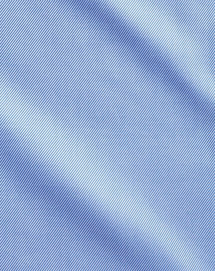 Chemise bleue en cavalry twill de coton égyptien slim fit