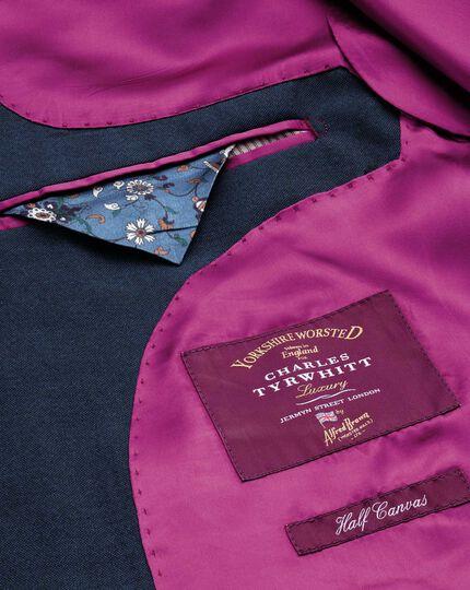Blue classic fit British Panama luxury suit jacket