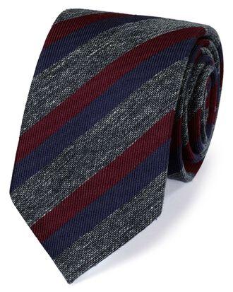 Burgundy silk mix fleck stripe classic tie