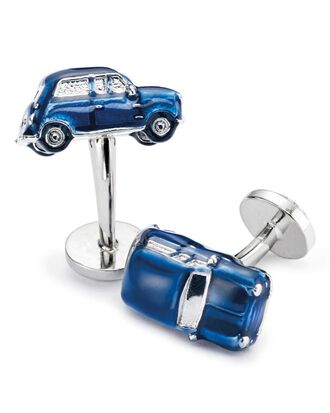 Navy vintage car cuff links