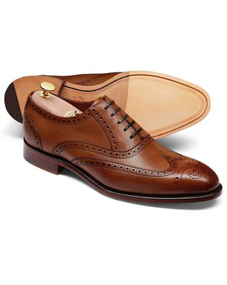 Chestnut made in England Oxford brogue shoe