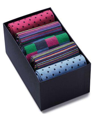 Chaussettes multicolores avec coffret de présentation