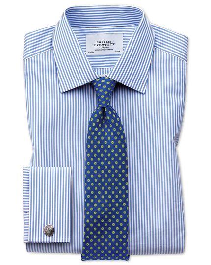 Extra Slim Fit Hemd in Himmelblau mit Bengal-Streifen