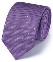 Lilac silk classic textured dash tie