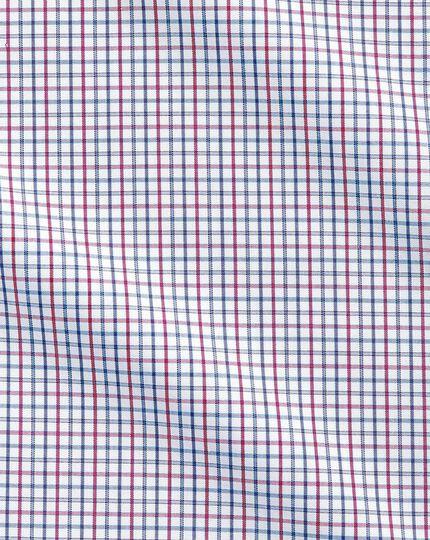Chemise multicolore slim fit à carreaux simples sans repassage