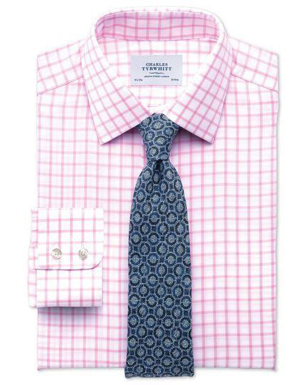 Mid blue linen mix Italian luxury circle tie