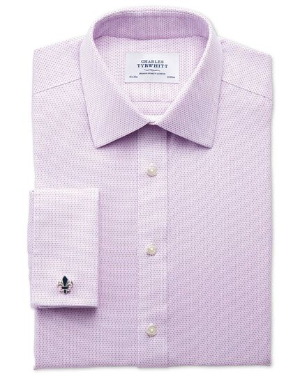 Extra slim fit non-iron imperial weave lilac shirt