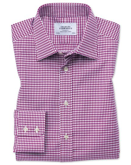 Classic fit large puppytooth berry shirt