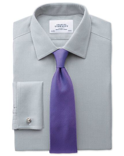 Extra slim fit non-iron honeycomb grey shirt