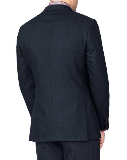 Indigo slim fit saxony business suit jacket