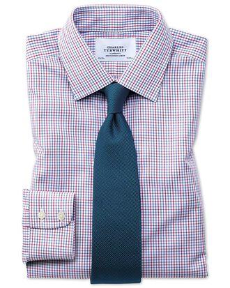 Bügelfreies Slim Fit Hemd in Bunt mit Gitterkaros