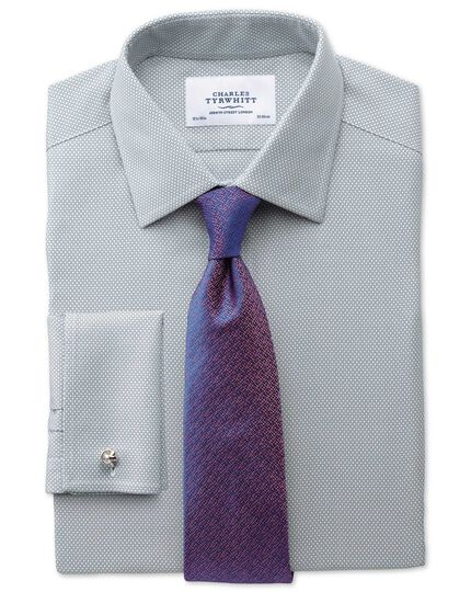 Classic fit non-iron honeycomb grey shirt