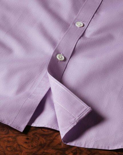 Slim fit semi-cutaway collar luxury poplin lilac shirt
