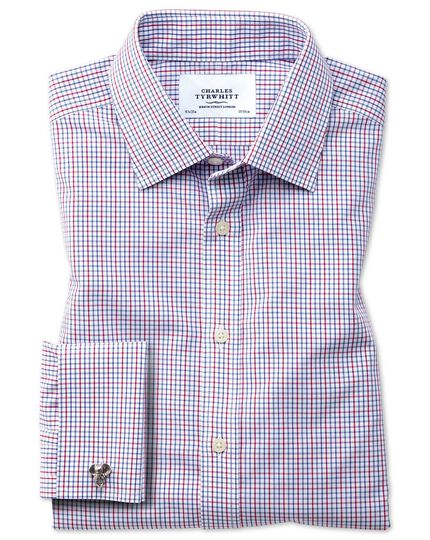 Extra slim fit non-iron multi grid check shirt