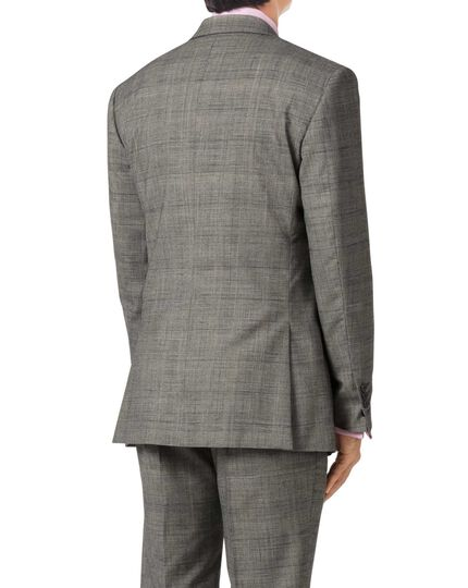 Veste de costume business Prince de Galles grise en Panama slim fit