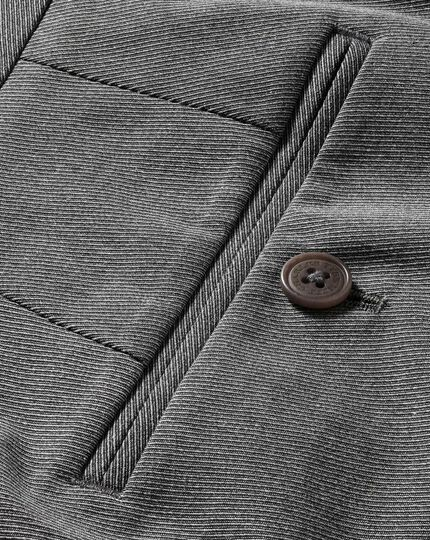 Light grey classic fit stretch cavalry twill trousers