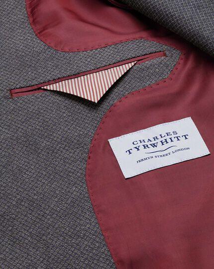 Classic fit grey semi-plain cotton jacket