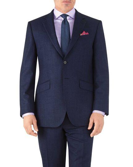 Classic Fit Business Anzug Sakko aus Flanell in Königsblau