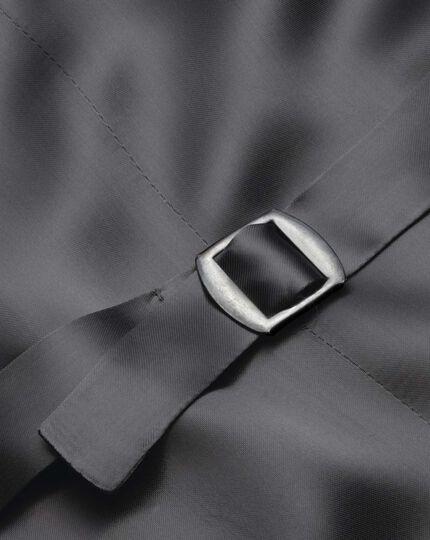 Silver adjustable fit British Panama luxury suit vest