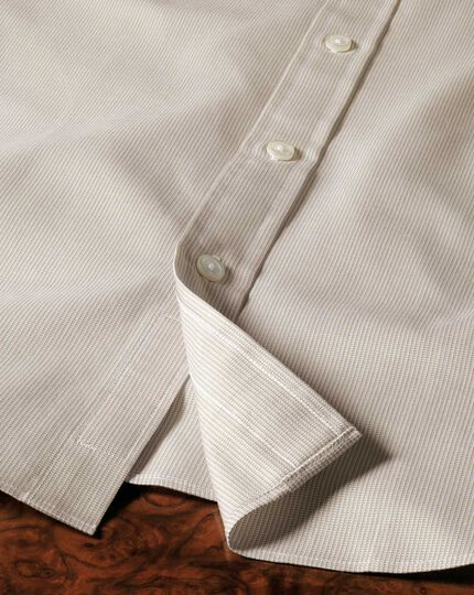 Extra slim fit Oxford stone shirt