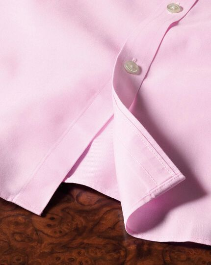 Classic fit cutaway non-iron twill pink shirt