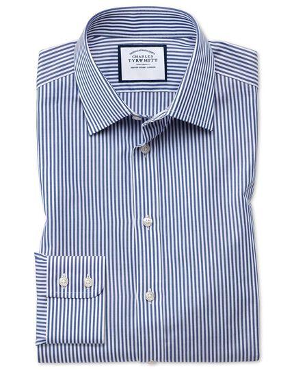 Extra slim fit Bengal stripe navy blue shirt