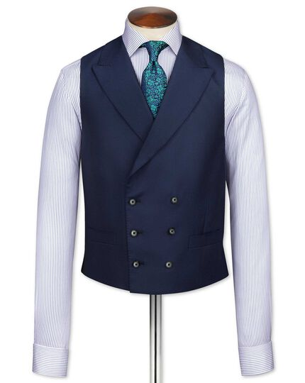 Navy British Panama luxury suit waistcoat