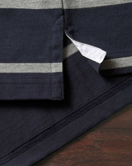 Navy and grey stripe rugby shirt