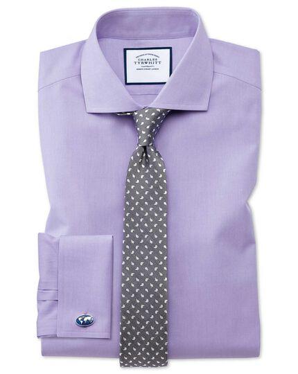 Cravate slim classique grise en soie et lin à motif cachemire
