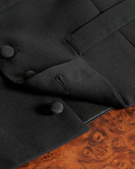 Black adjustable fit shawl collar tuxedo vest