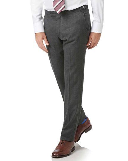 Pantalon de costume charcoal en luxueux britannique slim fit