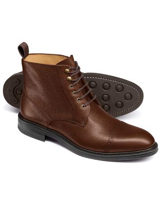 Troswell Stiefel mit Zehenkappe in Braun