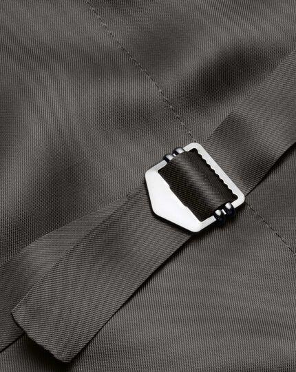 Charcoal sharkskin travel suit waistcoat