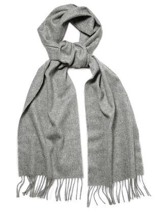 Écharpe grise en cachemire