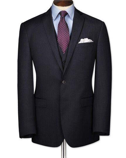 Airforce blue slim fit twill business suit jacket