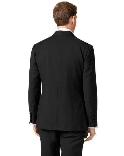 Black slim fit shawl collar tuxedo jacket