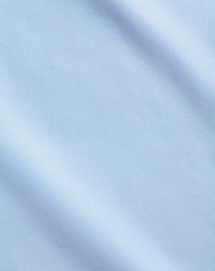 Slim fit non-iron twill sky blue shirt