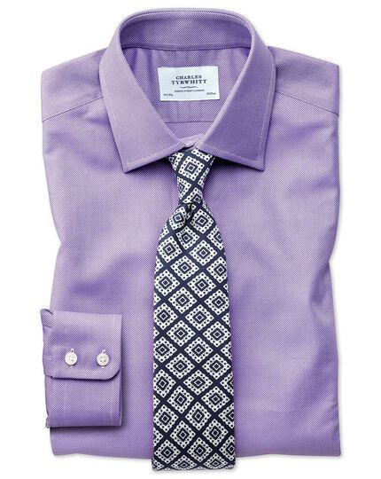 Extra slim fit Egyptian cotton royal Oxford lilac shirt