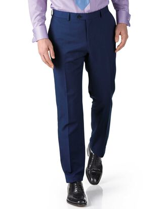 Pantalon de costume business bleu roi en twill slim fit