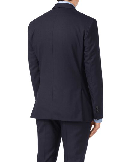 Navy extra slim fit Merino business suit jacket