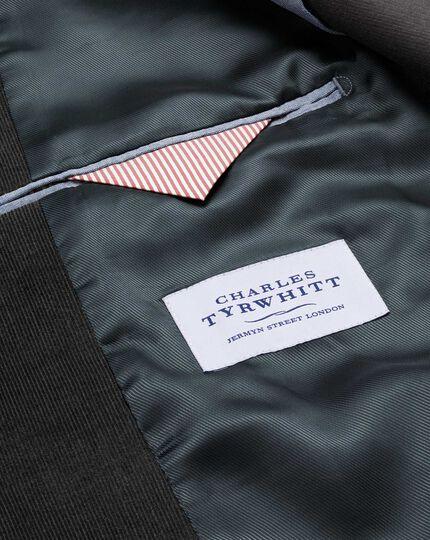 Slim fit grey stretch cord jacket