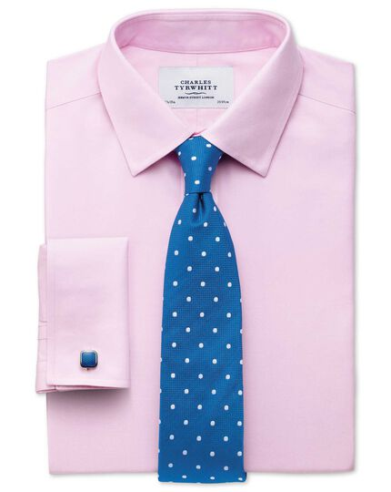 Chemise rose en twill extra slim fit sans repassage