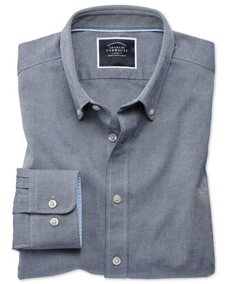 Extra Slim Fit Oxfordhemd in Indigoblau
