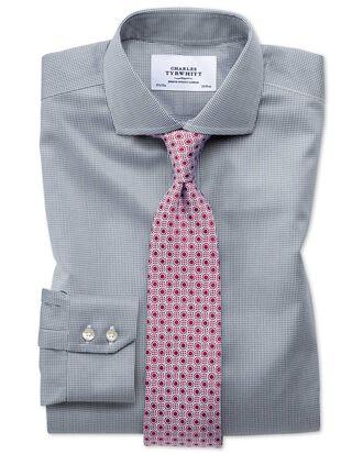Chemise gris foncé pied-de-poule extra slim fit sans repassage à col cutaway
