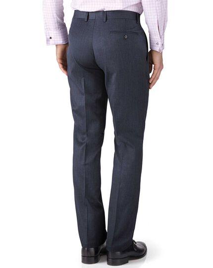 Slim Fit Businessanzug Hose aus Twill in Blau