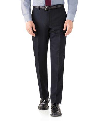 Navy classic fit hairline business suit pants