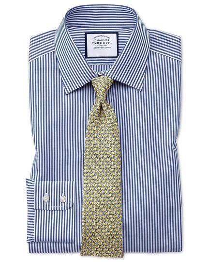 Slim fit Bengal stripe navy blue shirt