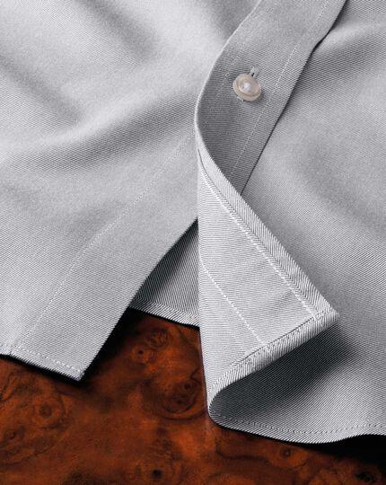 Slim fit non-iron twill grey shirt