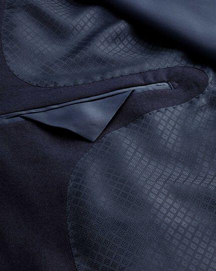 Veste de costume de luxe bleu marine en sergé britannique slim fit