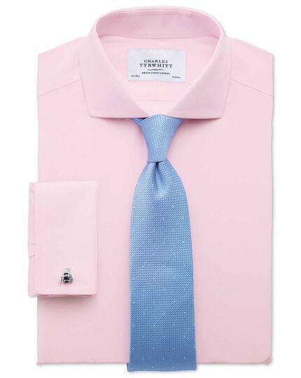 Extra slim fit cutaway collar non-iron poplin light pink shirt